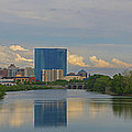 Indianapolis Indiana Skyline Panoramic by David Haskett II