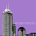 Indianapolis Indiana Skyline - Violet by DB Artist