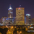 Indianapolis Night Skyline Echo by David Haskett II
