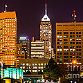 Indianapolis Skyline At Night Picture by Paul Velgos
