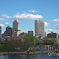 Indianapolis Skyline Blue 2 by David Haskett