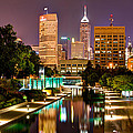 Indianapolis Skyline - Canal Walk Bridge View by Gregory Ballos