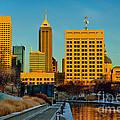 Indianapolis Skyline Dynamic by David Haskett