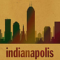 Indianapolis Skyline Watercolor On Parchment by Design Turnpike