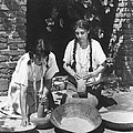 Indians Using Mortar And Pestle by Underwood Archives Onia