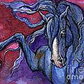 Indigo Horse 1 by Angel Ciesniarska