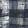 Indigo Squares 3 Of 5 by Carol Leigh