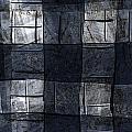 Indigo Squares 4 Of 5 by Carol Leigh