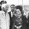 Indira Gandhi At Jfk Airport by Underwood Archives