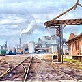 Industrial Railroad Scene  by L Wright