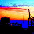 admire an Industrial sunset, because culture is also nature  by Hilde Widerberg