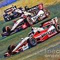 Indy Car's Penske Team Juan Montoya Helio Castroneves Will Power   by Blake Richards
