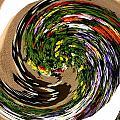 Infinity Flower Spiral 1 by Cj Carroll