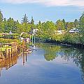 Inlet Of The Columbia River At Skamokawa Washington by Rich Walter