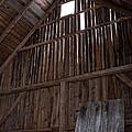 Inside An Old Barn by Edward Fielding