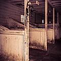 Inside An Old Horse Barn by Edward Fielding