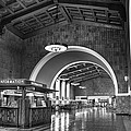 Inside Los Angeles Union Station In Black And White by Richard Cheski