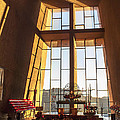 Inside The Chapel Of The Holy Cross by Fred Larson