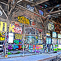 Inside The Old Train Roundhouse At Bayshore Near San Francisco And The Cow Palace V  by Jim Fitzpatrick