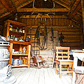 Inside The Real Sam Mcgee's Cabin In Macbride Museum In Whitehorse-yk by Ruth Hager