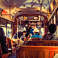 Inside The St. Charles Ave Streetcar New Orleans by Kathleen K Parker