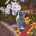 Inspecting The Blooms by Evie Cook