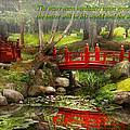 Inspiration - Japanese Garden - Meditation by Mike Savad