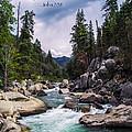 Inspirational Bible Scripture Emerald Flowing River Fine Art Original Photography by Jerry Cowart