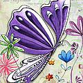 Inspirational Butterfly Flower Art Inspiring Quote Design By Megan Duncanson by Megan Duncanson