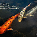 Inspirational - Gathering Fish Of Every Kind - Matthew 13-47 by Mike Savad