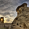 Inspirational Hoodoo Badlands Alberta Canada by Mark Duffy