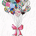 Inspirational Uplifting Floral Balloon Art A Bouquet Of Balloons Just For You By Megan Duncanson by Megan Duncanson