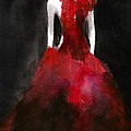 Inspired by Alexander McQueen Fashion Illustration Art Print by Beverly Brown Prints