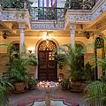 Interior Courtyard Of Villa Des by Panoramic Images