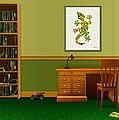 Interior Design Idea - Little Lizard - Animal Art by Anastasiya Malakhova