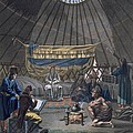 Interior Of A Kalmuk Yurt, 1812-13 by E. Karnejeff