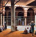Interior Of A Mosque by Munir Alawi