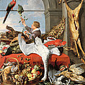 Interior Of An Office, Or Still Life With Game, Poultry And Fruit, C.1635 Oil On Canvas by Frans Snyders or Snijders