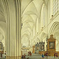 Interior Of Antwerp Cathedral, C.1668 by Isaac van Nickele