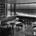 Interior Of Beach House Owned By Anatole Litvak by Fred R. Dapprich