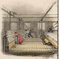 Interior Of Cotton Mill With Man by Mary Evans Picture Library