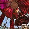 Interior Of Fresnel Lens In Umpqua Lighthouse by Bryan Mullennix
