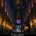 Interior Of Notre Dame De Paris by Dany Lison