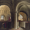 Interior Of The Church Of The Holy by Augustus Charles Pugin