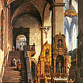 Interior Of The Dominican Church In Krakow by Marcin Zaleski