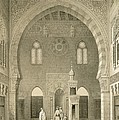 Interior Of The Mosque Of Qaitbay, Cairo by French School