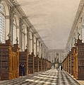 Interior Of Trinity College Library by Augustus Charles Pugin