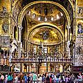 Interior St Marks Basilica Venice by Jon Berghoff