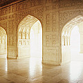 Interiors Of A Hall, Agra Fort, Agra, Uttar Pradesh, India by Panoramic Images