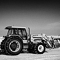 international 5140 tractor with front end loader on frozen field Forget Saskatchewan Canada by Joe Fox